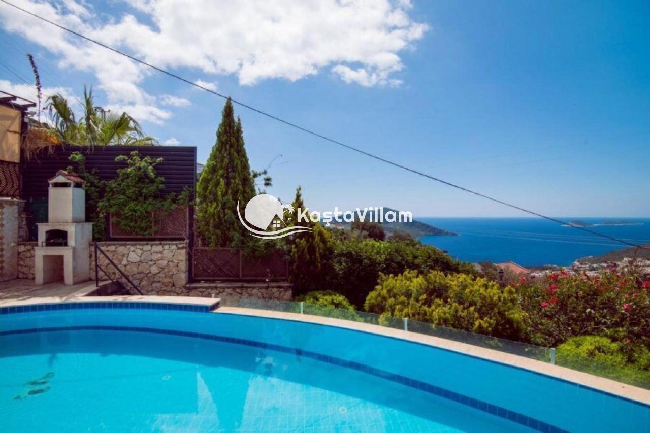 Kalkan Kiralık Villa   Villa sultan evi   Deniz manzaralı villa - Kaştavillam