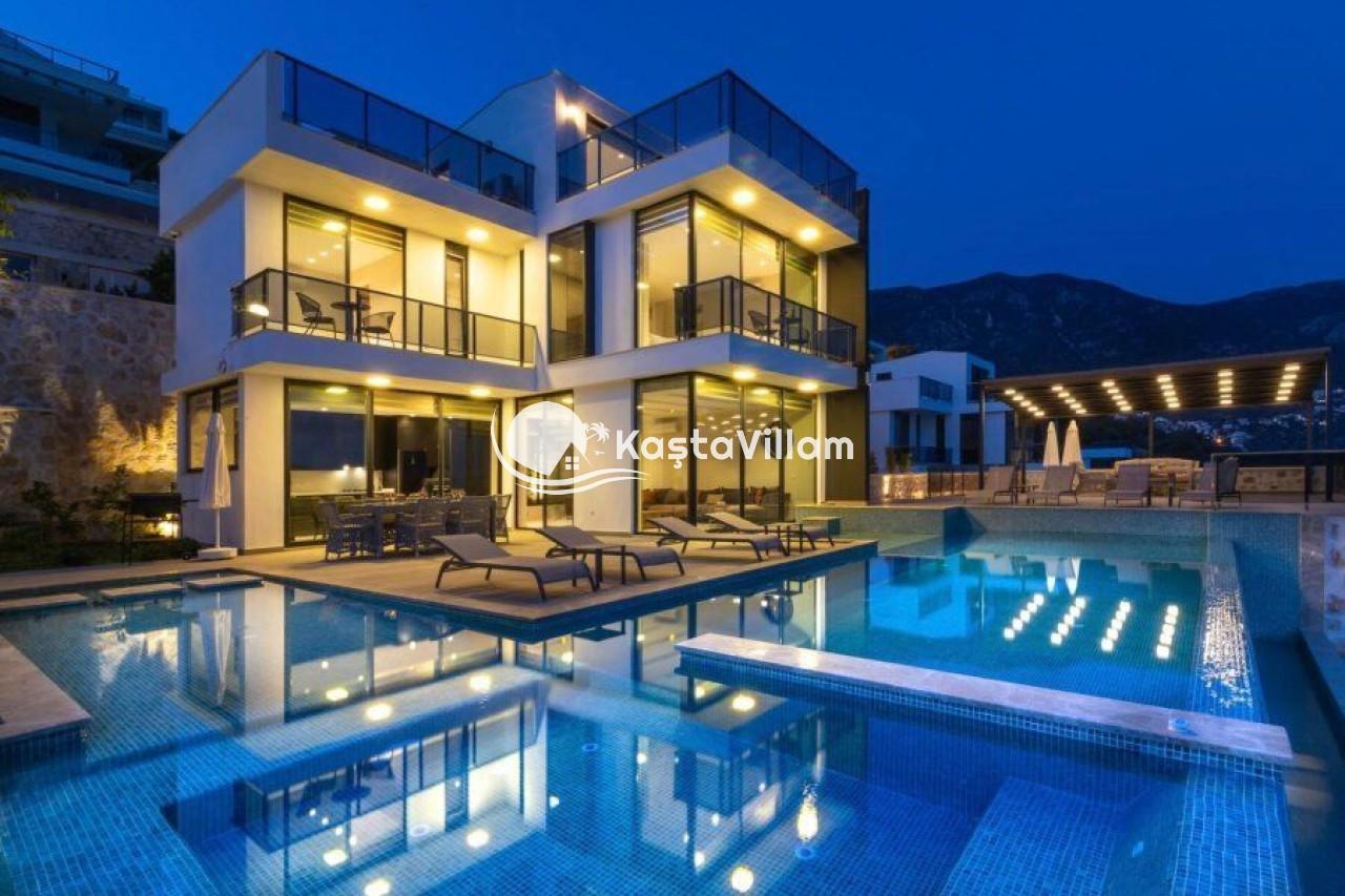 Ultra lüks villa  Kalkan kiralık villa   10 kişilik villa - Kaştavillam