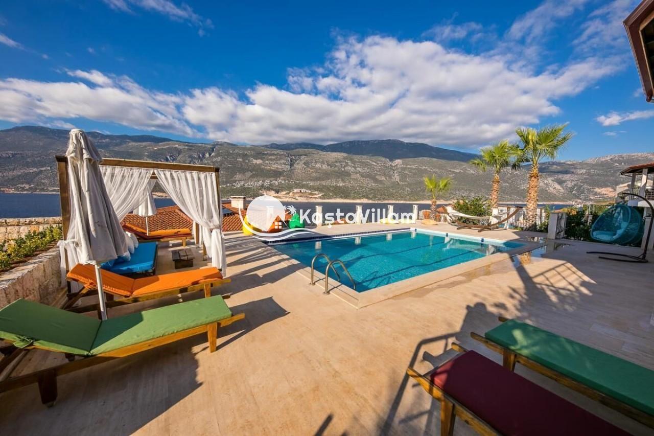 VİLLA ŞATO | Kaş Kiralık Villa, Kaş Yazlık Villa - Kaştavillam